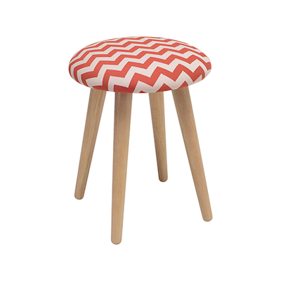 Poppy Stool - Natural, Auburn - Image 1