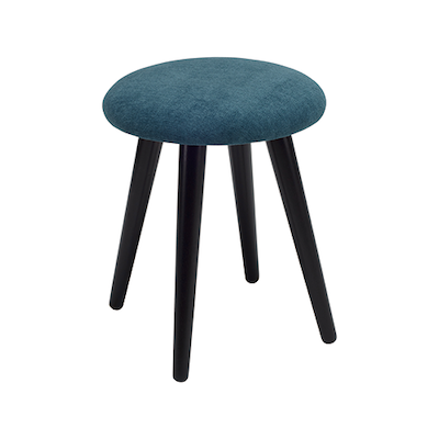 Poppy Stool - Black, Nile Green - Image 1