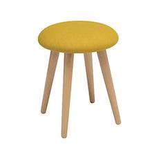 Poppy Stool - Natural, Yellow - Image 1