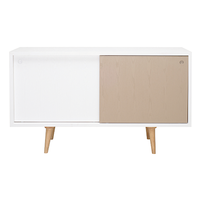 Locke Sideboard - Natural, White, Taupe Grey - Image 1