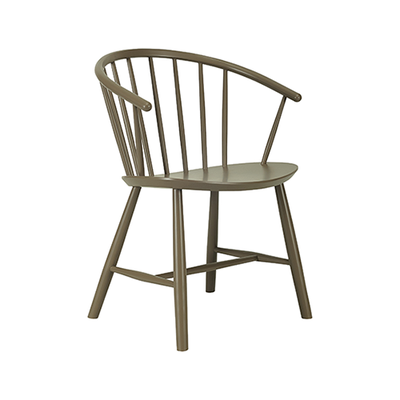 Cane Dining Chair - Dust Brown Lacquered - Image 1