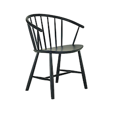 Cane Dining Chair - Black - Image 1