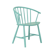 Cane Dining Chair - Light Green Lacquered - Image 1