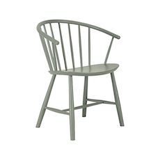 Cane Dining Chair - Grey Lacquered - Image 1