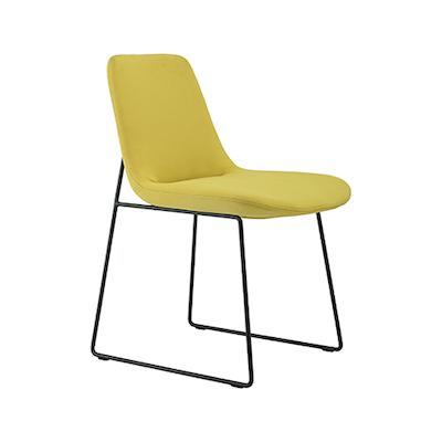 Amber Dining Chair - Matt Black, Pistachio (Set of 2) - Image 1