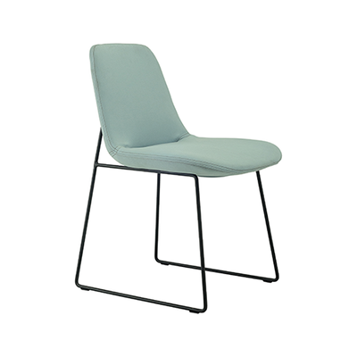 Amber Dining Chair - Matt Black, Jade (Set of 2) - Image 1