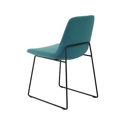 Amber Dining Chair - Matt Black, Jade (Set of 2) - Image 2