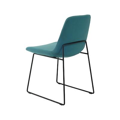 Amber Dining Chair - Matt Black, Clover (Set of 2) - Image 2