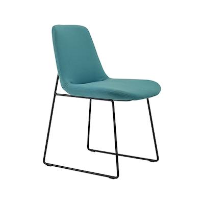 Amber Dining Chair - Matt Black, Clover (Set of 2) - Image 1