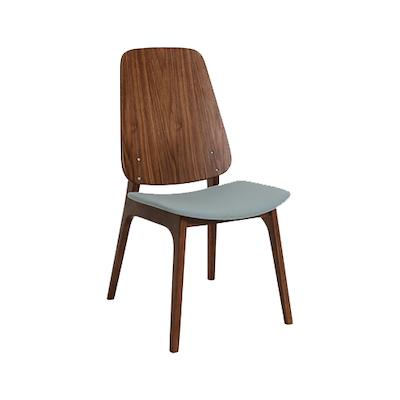 Miranda Dining Chair - Walnut, Jade (Set of 2) - Image 1