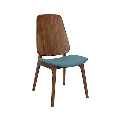 Miranda Dining Chair - Walnut, Clover (Set of 2) - Image 1