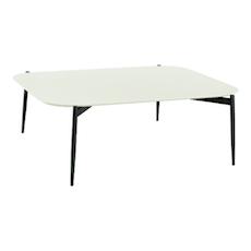 Nova High Coffee Table - White, Matt Black - Image 1