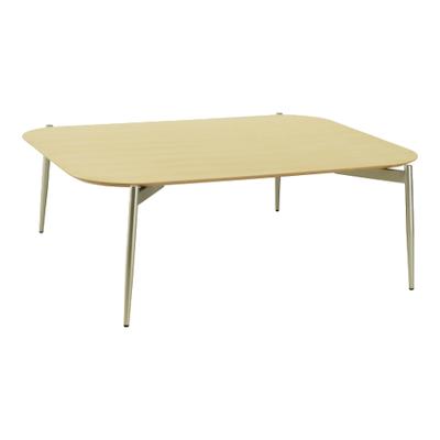Nova High Coffee Table - Oak, Matt Silver - Image 1