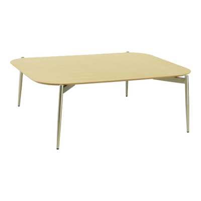 Nova High Coffee Table - Oak, Matt Silver - Image 1