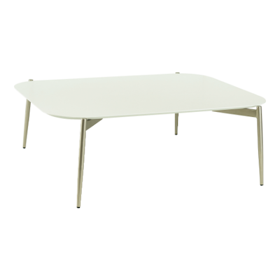 Nova High Coffee Table - White, Matt Silver - Image 1