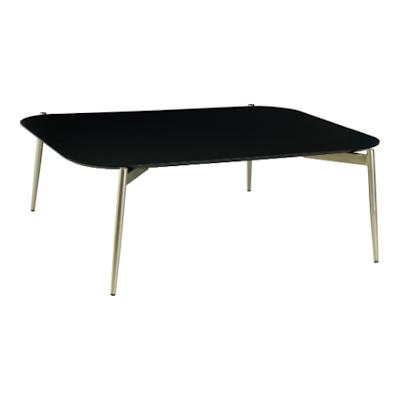 Nova High Coffee Table - Black Ash, Matt Silver - Image 1