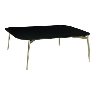 Nova High Coffee Table - Black Ash, Matt Silver - Image 1