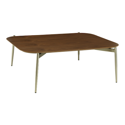 Nova High Coffee Table - Walnut, Matt Silver - Image 1