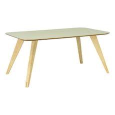 Ryder 8 Seater Rectangular Table - Black Ash Veneer, Oak - Image 2