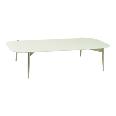 Nova Low Coffee Table - White, Matt Silver - Image 1