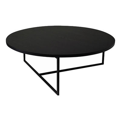 Felicity Round Coffee Table - Black Ash, Matt Black - Image 1