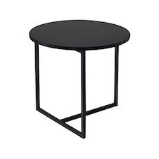 Felicity Round Side Table - Black Ash, Matt Black - Image 1