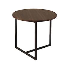Felicity Round Side Table - Walnut, Matt Black - Image 1