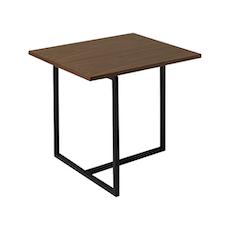 Felicity Rectangular Side Table - Walnut, Matt Black - Image 1