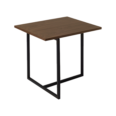 Felicity Rectangular Side Table - Walnut, Matt Black - Image 1