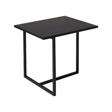 Felicity Rectangular Side Table - Black Ash, Matt Black - Image 1