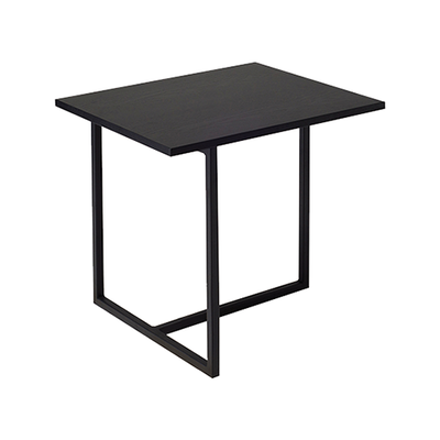 Felicity Rectangular Side Table - Black Ash, Matt Black - Image 1