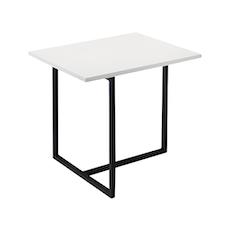 Turner Rectangular Side Table - White, Matt Black - Image 1