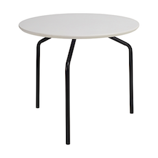 Zen Occasional Table - White, Matt Black - Image 1