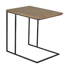 Micah Side Table - Walnut, Matt Black - Image 1
