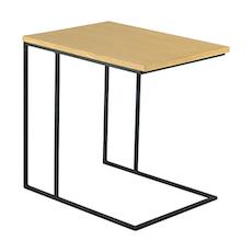 Myron Side Table - Oak, Matt Black - Image 1