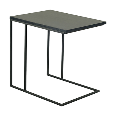 Micah Side Table - Black Ash, Matt Black - Image 1