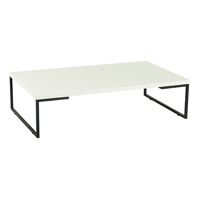 Myron Rectangular Coffee Table - White, Matt Black - Image 1