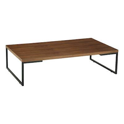 Myron Rectangular Coffee Table - Walnut, Matt Black - Image 1