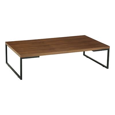 Myron Rectangular Coffee Table - Walnut, Matt Black - Image 1