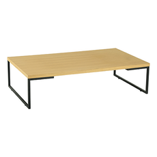 Myron Rectangular Coffee Table - Oak, Matt Black - Image 1