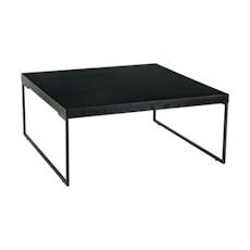 Micah Square Coffee Table - Black Ash, Matt Black - Image 1