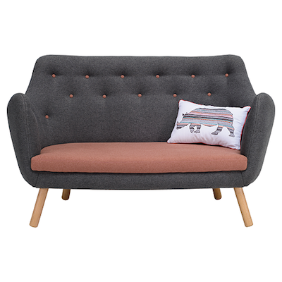 Royal Loveseat - Battleship Grey - Image 2