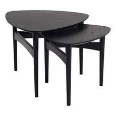 Phila Occasional Table Set - Black - Image 1