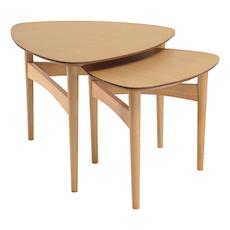Phila Occasional Table Set - Oak - Image 1