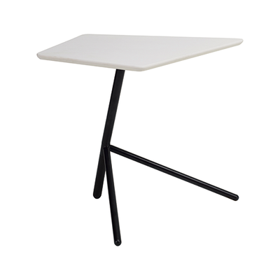 Leif Occasional Table - White, Matt Black - Image 1