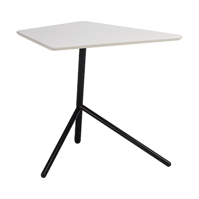 Leif Occasional Table - White, Matt Black - Image 2