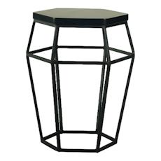 Apollo Stool/Occasional Table - Matt Black - Image 1
