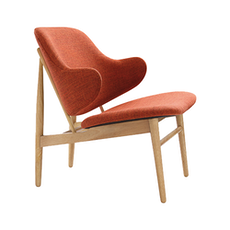 Chloe Lounge Chair - Russet, Oak - Image 1