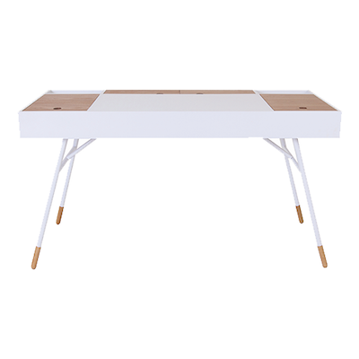 Norse Study Table - White, Oak - Image 2