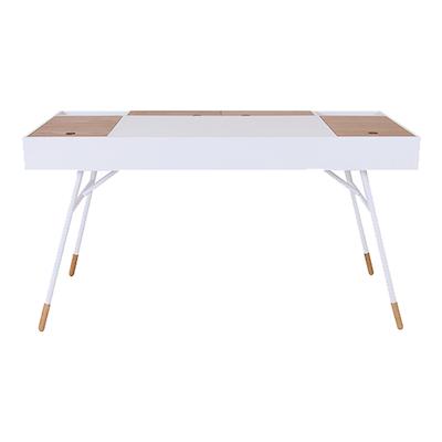 Norse Study Table - White, Oak - Image 2